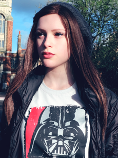 Joelle joelle image singer Star Wars Darth Vader Tshirt Skoobie Dootle picture photo official