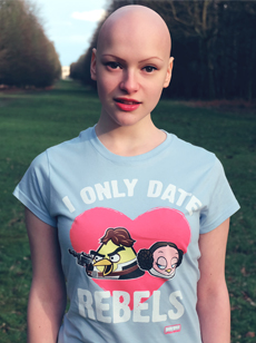 Joelle joelle singer Star Wars Date Rebels Tshirt alopecia image picture photo Skoobie Dootle Official Website